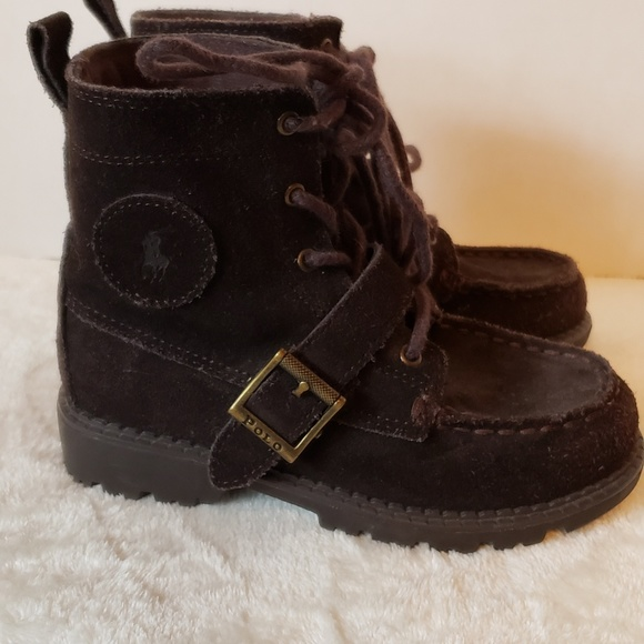 Polo by Ralph Lauren Other - ❤️SALE❤️POLO brown boys boot with tie & velcro